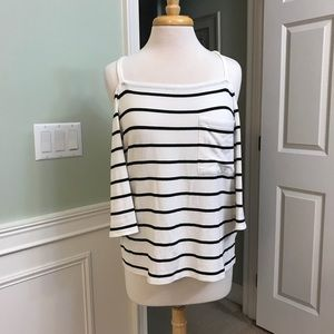Cold shoulder WHBM top